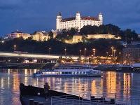 Pohľad na Bratislavský hrad.
