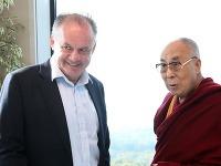 Prezident SR Andrej Kiska s tibetským dalajlámom