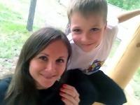 Anna Ozhigova so svojím synčekom Glebom