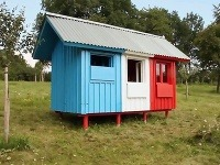 Prvý prototyp domu postavený v obci Třebešice.