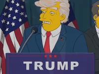 Donald Trump v úlohe amerického prezidenta v seriáli Simpsonovci.