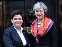 Beata Szydlová a Theresa Mayová