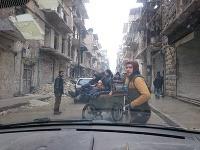 Ráno pred evakuáciou v Aleppe.