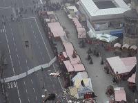 Zdemolované vianočné trhy v Berlíne