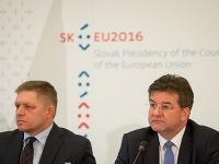 Robert Fico a Miroslav Lajčák