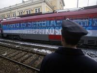 Vlak zdobil provokatérsky nápis