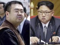 Nevlastný brat severokórejského vodcu Kim Čong-nam (vľavo) a severokórejský vodca Kim Čong-un (vpravo).