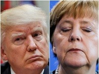 Donald Trump a Angela Merkelová.