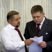 Štefan Harabin a Robert Fico.