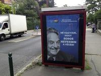 Maďarský billboard so sloganom: