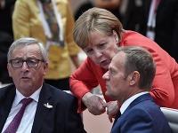 Jean-Claude Juncker, Angela Merkelová a Donald Tusk