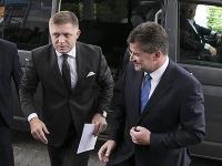 Robert Fico na stretnutí s Miroslavom Lajčákom.
