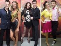 Daniela Hantuchová, Silvia Lakatošová a Lenka Vavrinčíková so svojimi tanečnými partnermi