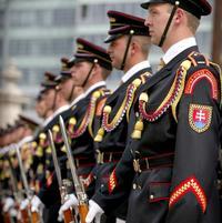 Čestná stráž prezidenta Gašparoviča