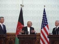 Jens Stoltenberg, Ashraf Ghani a Jim Mattis
