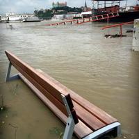 Vo štvrtok bolo zaplavené Tyršovo nábrežie v Bratislave.