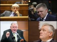 Mikuláš Dzurinda, Robert Fico, Vladimír Mečiar, Ján Slota