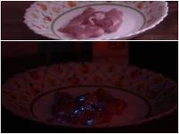 Mäso sa v noci rozsvietilo.