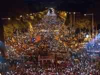 750.000 ľudí demonštrovalo v Barcelone.