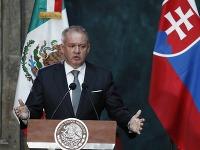 Andrej Kiska pri prejave v Mexiku