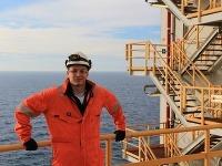 Andrej Tichý na ropnej plošine