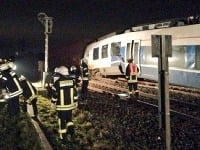 Vlak po havárii