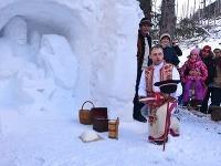 Snehový betlehem pri Rainerovej chate