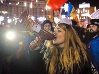 Demonštranti protestovali proti korupcii.