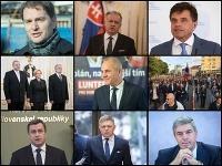 Igor Matovič, Andrej Kiska, Peter Plavčan, trojica nových ústavných sudcov, Ján Lunter, Andrej Danko, Robert Fico a Béla Bugár