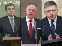 Andrej Danko, Andrej Kiska a Robert Fico
