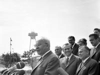 Na snímke generálny tajomník KSČ Gustáv Husák