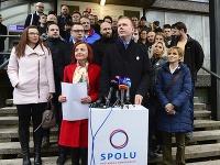 Zakladateľka strany SPOLU Simona Petrík s Miroslavom Beblavým.