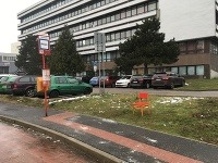 Vylepšená zastávka na Podunajskej ulici v Bratislave.
