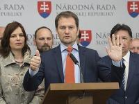 Predseda OĽaNO Igor Matovič, členovia OĽaNO Ján Budaj, Veronika Remišová a Jozef Viskupič