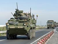 Americký vojenský konvoj