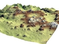 Lidar mapa objavenej oblasti