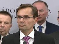 Ľubomír Galko počas tlačovej konferencie ku kauze odpočúvania novinárov