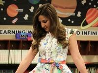 Haley sa pochválila krásnymi šatami od žiakov
