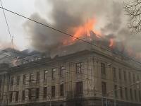 V Košiciach horí budova daňového úradu.