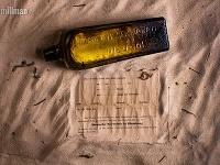 Nájdená fľaša s odkazom