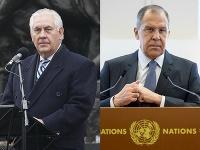 Rex Tillerson a Sergej Lavrov