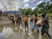 Utečenecký tábor vyhnaných Rohingov.