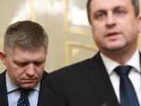Premiér SR Robert Fico a predseda SNS Andrej Danko