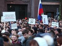Záber z protestu