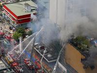 Požiar hotela na Filipínach