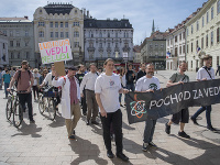 Pochod za vedu v Bratislave