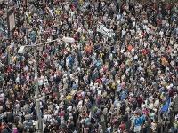 Na Námestí SNP v Bratislave bolo približne 31-tisíc ľudí.