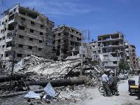 Zničené mesto v Sýrii