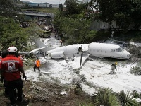 Miesto zrútenia lietadla.