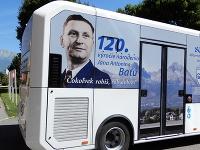 Nový autobus v meste Svit